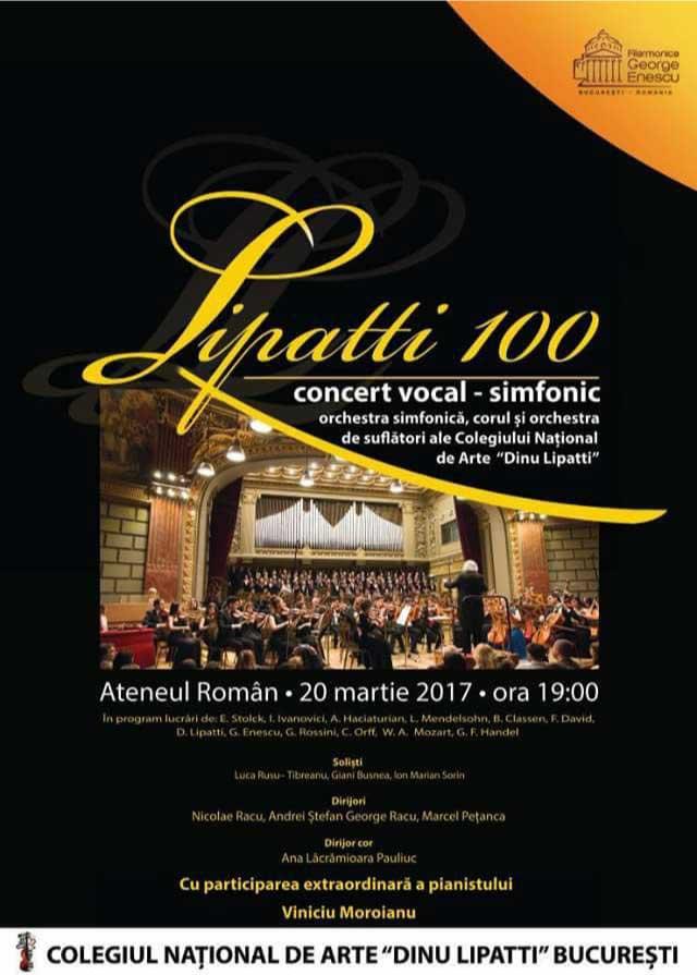Lipatti 100 Concert Vocal Simfonic