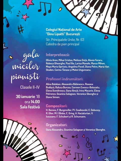 Afiș Gala Micilor Pianiști