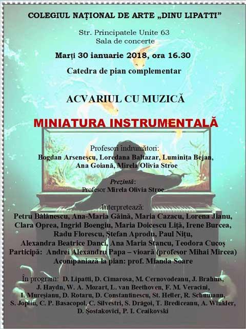 Afiș Acvariul cu Muzică - Miniatură Instrumentală
