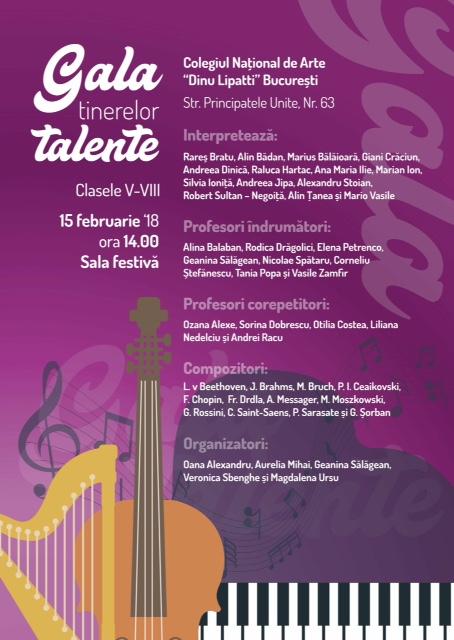 Afiș Gala Tinerelor Talente